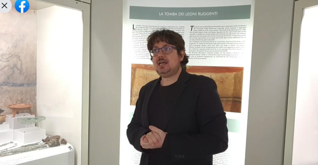 Valentino Nizzo replica in video all'ex tombarolo. Tomba dei Leoni Ruggenti